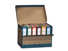 Pressel Archiefcontainer t.b.v. 6 Ordners, Karton, 335 x 310 x 525 mm, Bruin (pak 10 stuks)
