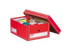 Pressel Archiefdoos met Deksel, Karton, A4, 350 x 255 x 155 mm, Assorti (pak 20 stuks)
