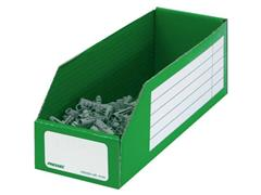 Pressel Opbergdoos Van Golfkarton groen 305 x 100 x 110 mm Transparante opbergbak met vakken (doos 20 stuks)