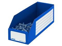 Pressel Open Voorraaddoos, 305 x 100 x 110mm, blauw (pak 20 stuks)