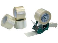 Pressel Verpakkingstaperoller wit Plastic 75 mm