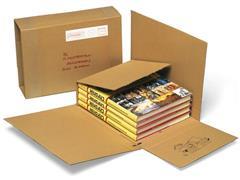 Pressel Verzenddoos Voor Boeken, Golfkarton, 325 x 250 x 10-140 mm, Bruin (pak 25 stuks)