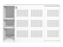 Roldeurkast 180 x 120 x 45 cm, Wit