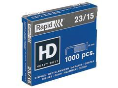 Rapid Nieten 23 Standaard 23/15 mm, capaciteit 120 vel (doos 1000 stuks)