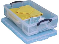 Really Useful Box Stapelbare opbergdoos 33 l 710 x 440 x 165 mm transparant
