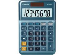 Casio MS-88EM Bureaurekenmachine, 8-cijferig, Blauw