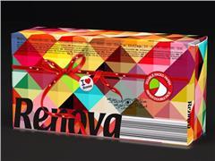 Renova Soft Color Facial Tissues, 3-laags, 225 x 210 mm, Groen / Wit, Fuchsia / Wit (pak 80 stuks)