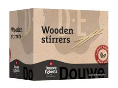 Douwe Egberts Roerstaafjes, Hout, 14 cm (doos 1000 stuks)