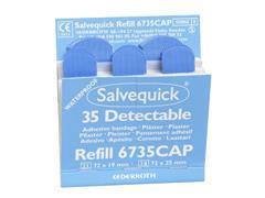 Salvequick Blauwe detecteerbare pleisters, 6 x 35 stuks (pak 210 stuks)