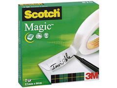 Scotch® 810 Magic™ Plakband 12 mm x 66 m, asgat 76 mm (pak 2 x 66 meter)