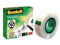 Scotch® Tape 810 Plakband, Onzichtbaar, 19 mm x 33 m, Asgat 25 mm, Mat Transparant (rol 33 meter)