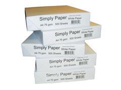 Simply White Label A4 Papier, Wit (doos 5 x 500 vel)