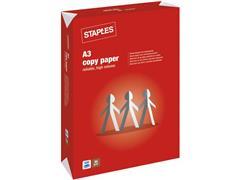 Staples Copy A3 Papier, 80 g/m², Wit (doos 5 x 500 vel)