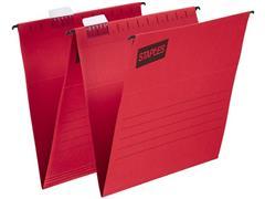 Staples Hangmap Euroflex Verticaal, A4, v-bodem, rood (doos 25 stuks)