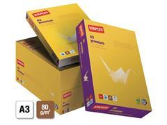 Staples Premium papier A3, 80 g/m² (doos 5 x 500 vel)