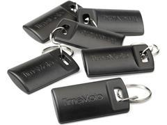 TimeMoto RF-110 RFID Proximity sleutelhanger, compatibel met alle TimeMoto® klokken, 33 x 27 mm, leesafstand van 70 mm, zwart (pak 25 stuks)