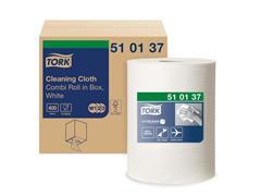 Tork Premium papieren reinigingsdoekjes, 1-laags 320 mm 400 vel, wit (rol 400 vel)