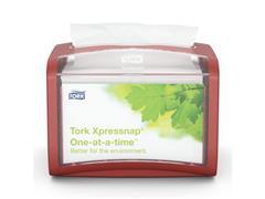 Tork Xpressnap Tabletop Servetdispenser, 155 x 201 x 150 mm, Plastic, Rood
