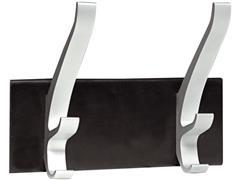 Unilux CYPRES Kledinghaken, 2 haken, Aluminium, Zwart