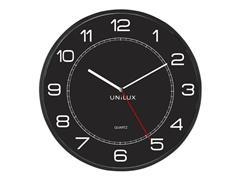 Unilux Mega, Wandklok, ø 57,5 cm, Kunststof, Zwart