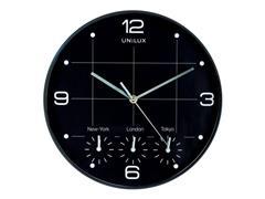 Unilux On Time Klok, ø 30,5 cm, Aluminium, Zwart
