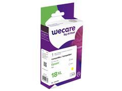 Wecare Inktjet cartridge, T1814, één pakket, 535p, geel, compatibel met EPSON 18XL Y