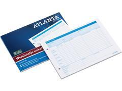 ATLANTA Werkbriefje Wekelijks, A5, Wit (blok 50 stuks)