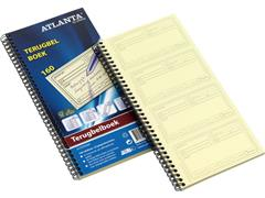 ATLANTA Terugbelboek in Tweevoud, Nederlandstalig, 160 Notities, 297 × 140 mm (pak 5 x 20 vel)