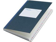 ATLANTA Kasboek met Alfabetregister, A6, Gelinieerd, Blauw (pak 5 x 48 vel)