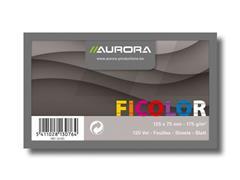 AURORA Systeemkaart, Gelinieerd, 75 x 125 mm, Assorti (pak 1000 stuks)