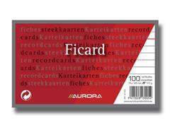 AURORA Systeemkaart 75 x125 mm gelijnd 6 mm met rode koplijn 175 g/m² (pak 100 vel)