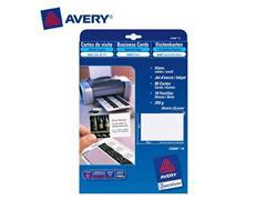 Avery Quick & Clean™ visitekaartje 85 x 54 mm, linnenstructuur, zijdeglans, 270 g/m², C32026, Laser (pak 100 stuks)