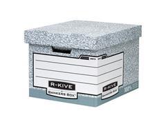 Bankers Box R-Kive System Opbergdoos, Karton, 335 x 292 x 404 mm, Grijs (doos 10 stuks)