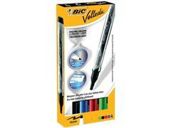 BIC® Velleda Whiteboardmarker, Ronde Punt, 2,2 mm, Assorti (pak 4 stuks)