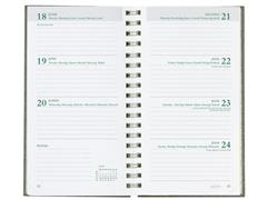 Brepols Ecorama Recycled Agenda met Spiraal, 7 dagen per 2 pagina's, Zwart