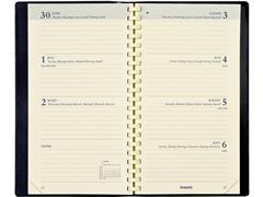 Brepols Interplan Interieur met Spiraal, 7 dagen per 2 pagina's, crème