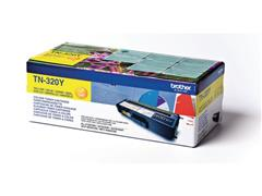 Brother TN-320Y Toner, single pack, geel