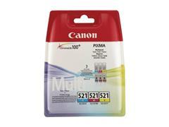 Canon CLI-521 Inktcartridge, Kleur (pak 3 stuks)
