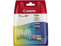 Canon CLI-526 Inktcartridge, Kleur (pak 3 stuks)