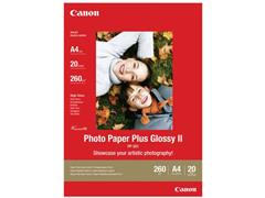 Canon Plus Glossy II Fotopapier voor Inkjet A4 245 g/m² Wit Glanzend 20 vel (pak 20 vel)