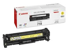 Canon 718 Toner, Single Pack, Geel
