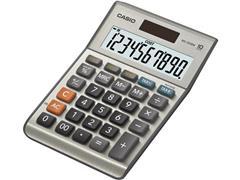 Casio MS-100MS Bureaurekenmachine, 10-Cijferig, Grijs