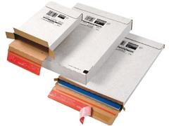 ColomPac Verzenddoos zelfklevend, 244 x 344 x 45mm, wit (pak 20 stuks)