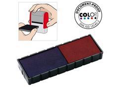 Colop Inktkussen E/12/2, Zelf-inktende Stempels, Rood en Blauw (pak 2 stuks)