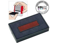 Colop Reservekussen t.b.v. Zelfinktende Stempels E/200/2, voor S260L, Blauw en Rood (pak 2 stuks)