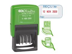 Colop Datumstempel met één vast woord Printer S260/L1 ''REÇU le'' Green Line