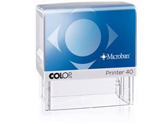 Colop Stempel - zelfinktend voor dagelijks gebruik Printer 40 Microban, 59 x 23 mm, max. 6 regels