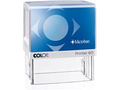 Colop Stempel - zelfinktend voor dagelijks gebruik Printer 60 Microban, 76 x 37 mm, max. 8 regels