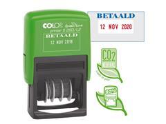 Colop Datumstempel met één vast woord Printer S260/L2 ''BETAALD'' Green Line