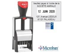 Colop Kantoorstempels met individuele tekst en datum Classic 2360, 45 x 30 mm - Frans